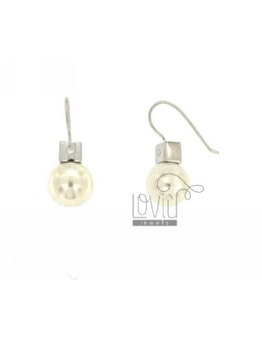 Ohrringe Perle 12 mm Silber...