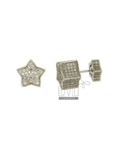 STAR PIERCING EARRINGS WITH...