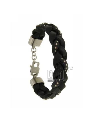 Bracelet leather braid 15...