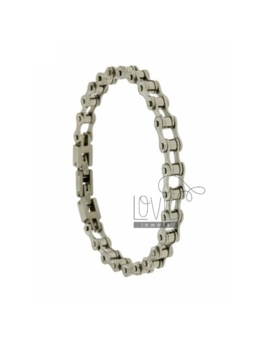 BICYCLE CHAIN BRACELET IN STEEL MM 8