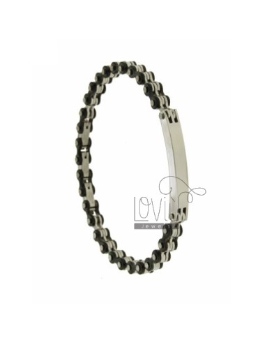 STEEL BIKE CHAIN &8203&8203BRACELET 8 MM CLAD WITH ELEMENTS RUTENIO