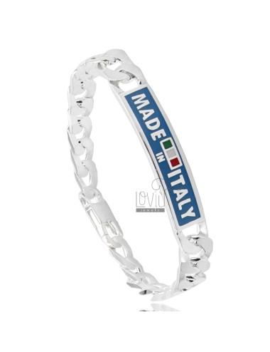 Curb PLATE mit Armband 9 MM...