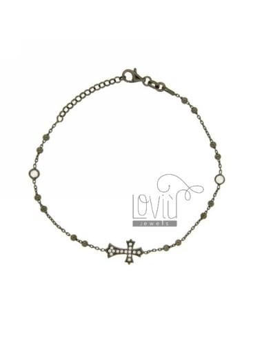Pulsera de rosario plateada...