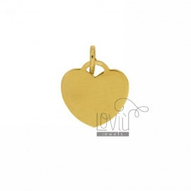 HEART PENDANT 18 MM THICKNESS 0.8 MM IN GOLD PLATED 925 TITLE