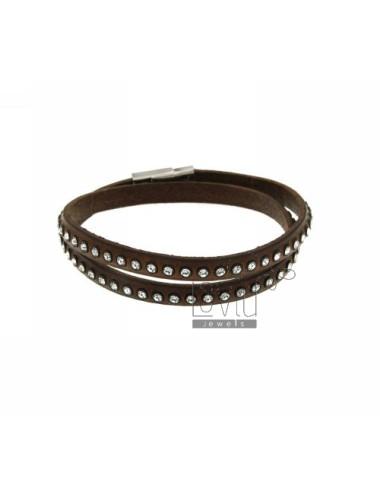 Bracelet leather double...