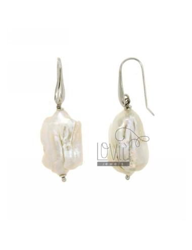 Barroco perlas pendientes...