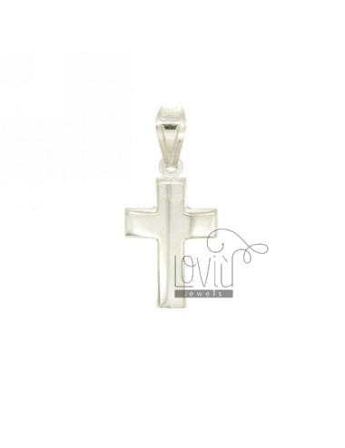 CROSS PENDANT boxed 21x12 MM SMOOTH SILVER TIT 925 ‰