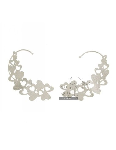 EARRINGS HEADSET A HEARTS IN PERFORATED AG RODIATO TIT 925 ‰