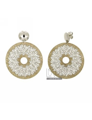 EARRINGS DOUBLE ROUND AG...