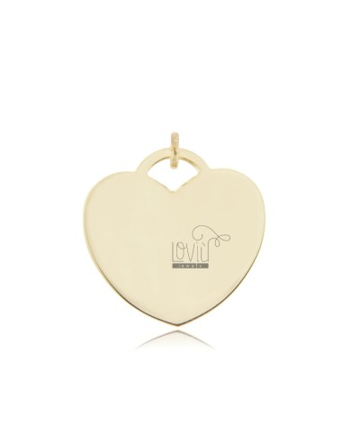 HEART PENDANT 28 MM THICKNESS 0.8 MM GOLD PLATED IN AG TIT 925 ‰