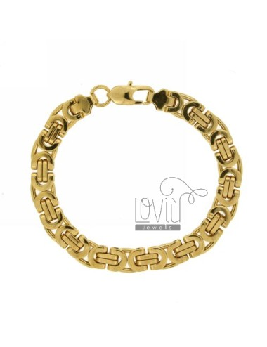 BRACELET GOLD PLATED STEEL MESH TYPE SNODATA SNAKE 8 MM