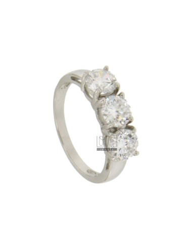 Ring trilogy with zirconia...