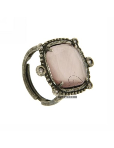 STONE RING WITH...