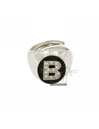 PINKY RING LETTER B WITH...