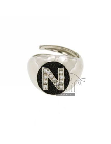 Pinky ring letter n with...