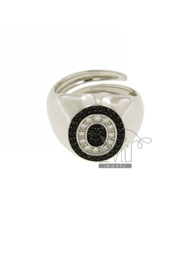 Pinky ring letter o with...