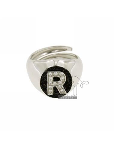 Pinky anillo con letra r...