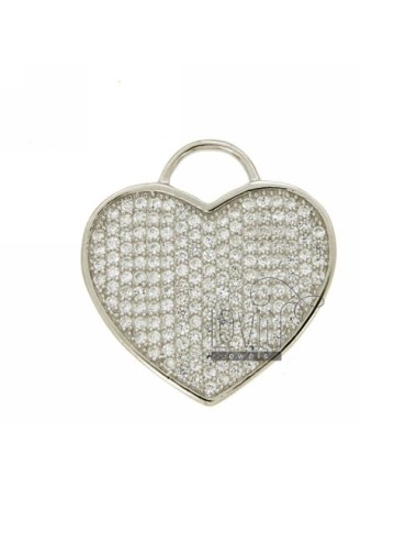 Ciondolo cuore mm 32x30 in...