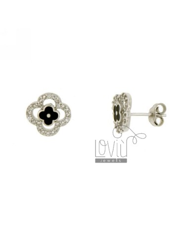 LOBO FLOWER EARRINGS SILVER...