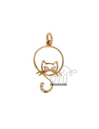 PENDANT CAT IN CIRCLE WIRE...
