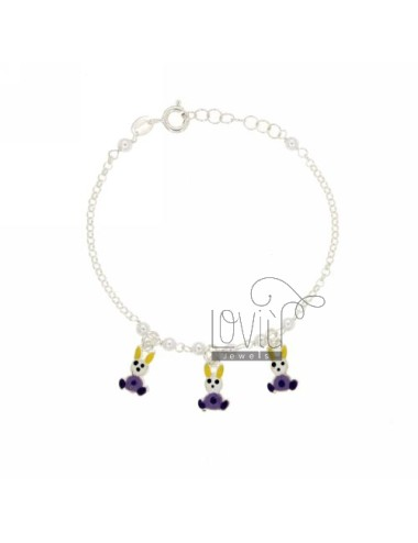 Rolo girl bracelet with...