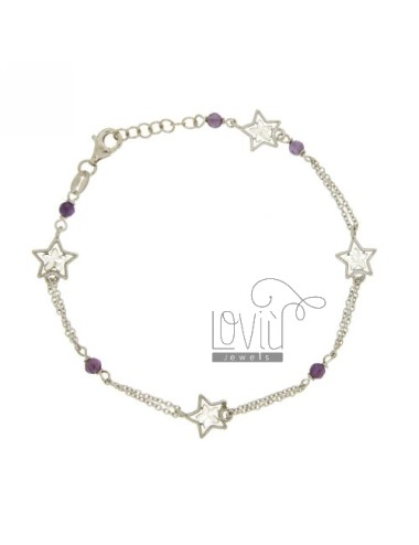 CABLE ARMBAND MIT STARS AND...