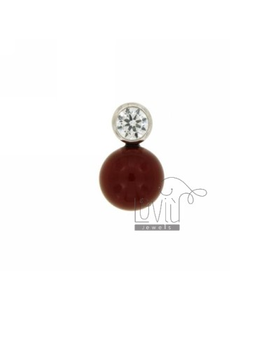 Pendants PASTA CORAL RED 12...