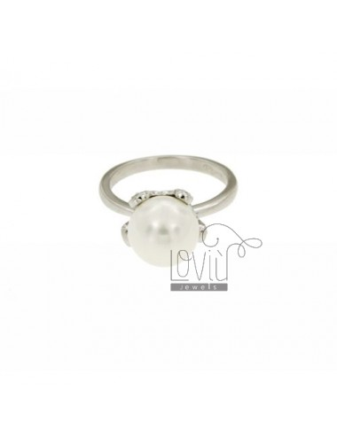 Ring with pearl 10 mm...
