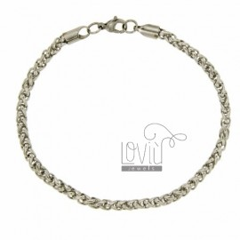 BRACELET KNIT SPIGA MM 4X4 STEEL