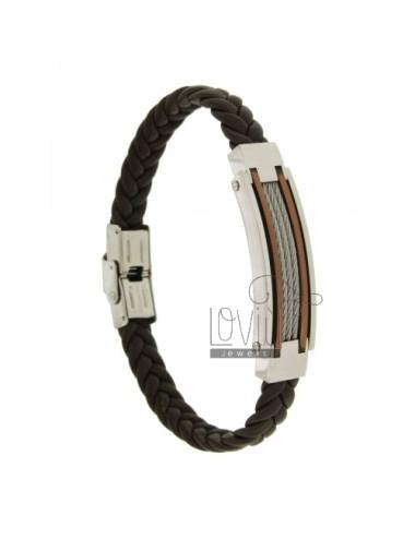 Bracelet leather braid 10...
