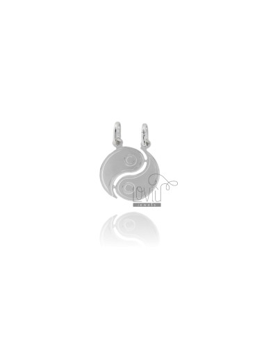 PENDANT GOOD AND EVIL DIVIDED IN SILVER RHODIUM 925 ‰