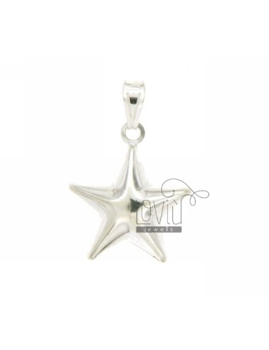 CHARM COUPLED STAR MM 24x20 SILVER TITLE 925 ‰