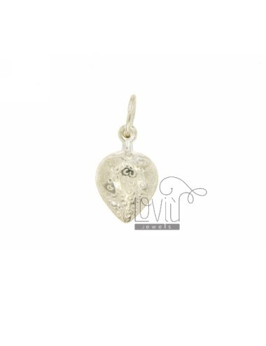 CHARM COUPLED STRAWBERRY 18x12 MM SILVER TIT 925 ‰