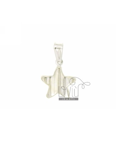 CHARM COUPLED STAR MM 18X15 SILVER TIT 925 ‰