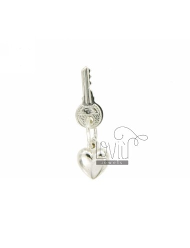 PENDANT SILVER LINING HEART AND KEY TIT 925 ‰