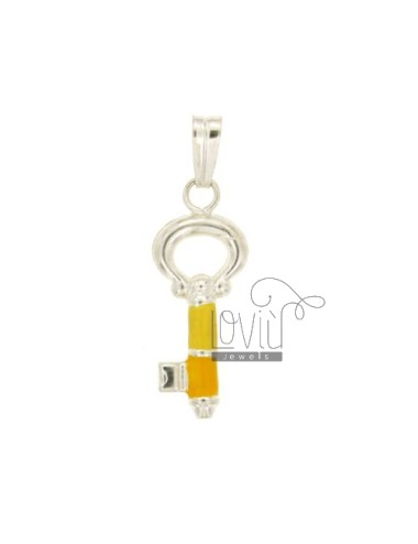 CHARM KEY MM 28X11 SILVER GLAZED ASSORTED COLORS TIT 925 ‰