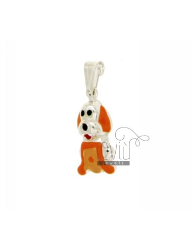 Pendant DOGGIE 21X9 MM SILVER GLAZED ASSORTED COLORS TIT 925 ‰