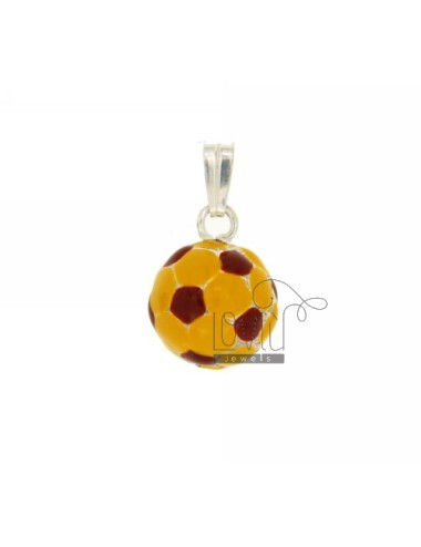 PENDANT BALL DIAMETER 14 SILVER GLAZED ASSORTED COLORS TIT 925 ‰