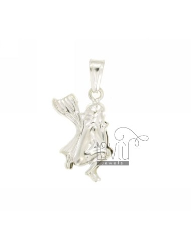 CHARM COUPLED FATINA 24x15 MM SILVER TIT 925 ‰