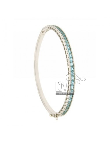 BANGLE WITH TENNIS ZIRCONS CELESTIAL SILVER RHODIUM TIT 925 ‰