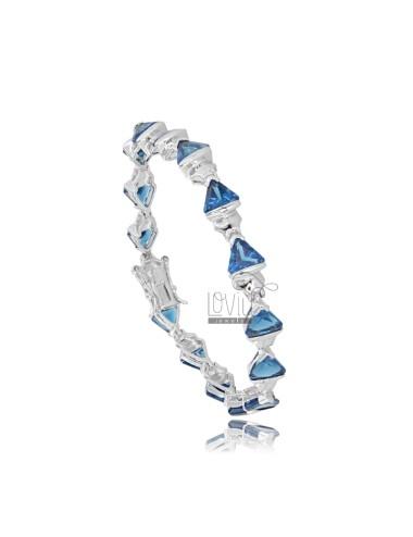 Dreieck-tennis-armband mit...