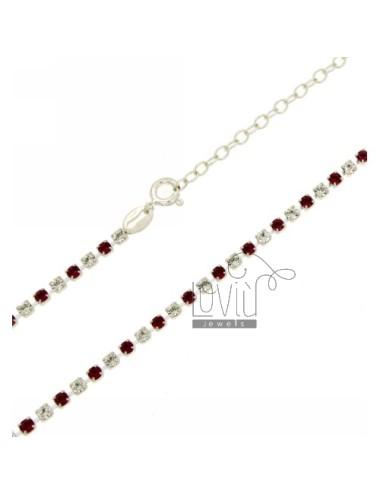 Tennis necklace silver 2.5...