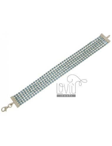 TENNIS BRACELET 2.5 MM 6.WIRE METAL AND CRYSTAL WITH CLOSURE IN SILVER 925 ‰ TIT CM 18