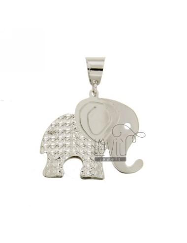 Elefante colgante doble...
