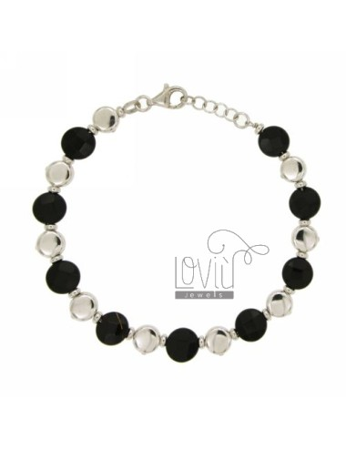 Onyx armband silber rhodium...