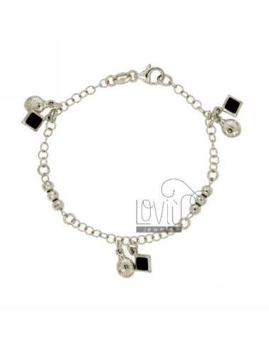 BRACELET WITH CRYSTAL SILVER RHODIUM TIT 925 ‰ CM 18