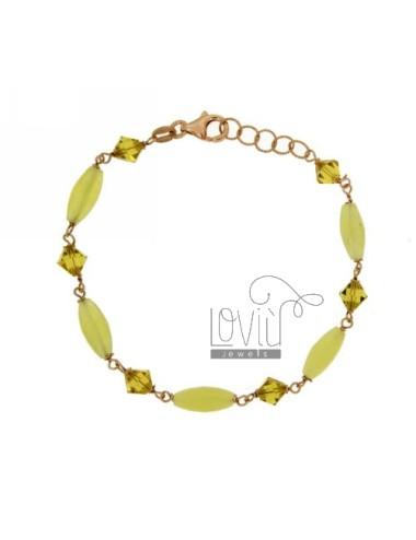 Bracelet with oval stone...