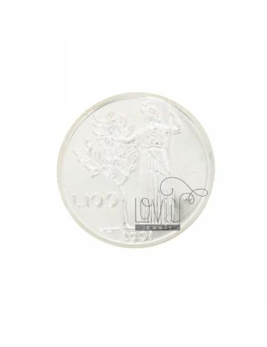 MONETA £ 100 ANNO 2001 DIAMETRO MM 30 IN ARG. TIT 925