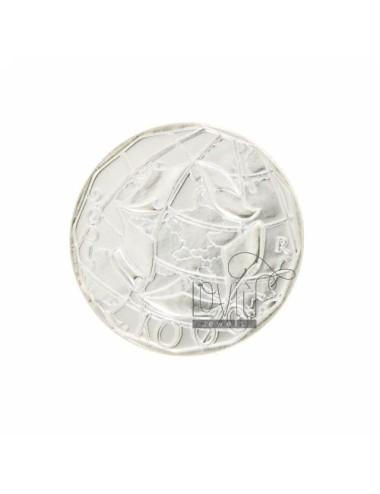 MONETA £ 1000 ANNO 2001 DIAMETRO MM 30 IN ARG. TIT 925