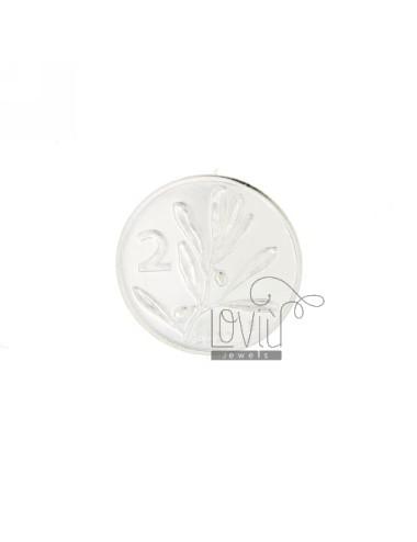 MONETA £ 2 ANNO 2001 DIAMETRO MM 22 IN ARG. TIT 925